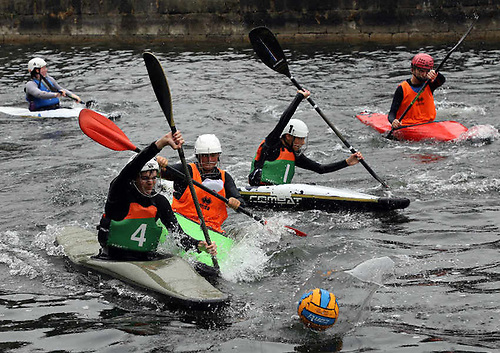 File image of canoe polo on the Royal Canal