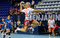 Poland`s Monika Migala in action during Women's Handball World Championship 2013 match Poland vs Paraguay on December 7, 2013 in Zrenjanin.    PHOTO / STARSPORT