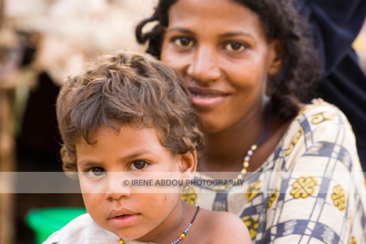 Touareg mother and child in Ouagadougou, Burkina Faso.