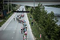 Peloton lined up. <br /> <br /> GP Marcel Kint 2019 (BEL)<br /> One Day Race: Kortrijk – Zwevegem 188.10km. (UCI 1.1)<br /> Bingoal Cycling Cup 2019