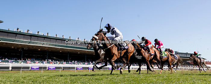 November 7, 2020 : Glass Slippers, ridden by Tom Eaves, wins the Turf Sprint on Breeders' Cup Championship Saturday at Keeneland Race Course in Lexington, Kentucky on November 7, 2020. Alex Evers/Breeders' Cup/Eclipse Sportswire/CSM