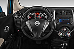 Steering wheel view of a 2014 Nissan Versa Note SV SL Hatchback 2014 Nissan Versa Note SV SL Hatchback