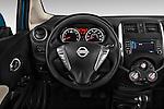 Steering wheel view of a 2014 Nissan Versa Note SV SL Hatchback 2014 Nissan Versa Note SV SL Hatchback