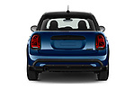 Straight rear view of 2021 MINI MINI Cooper-Yours 5 Door Hatchback Rear View  stock images