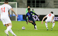ST. GALLEN, SWITZERLAND - MAY 30: Yunus Musah #10 of the United States dribbles with the ball during a game between Switzerland and USMNT at Kybunpark on May 30, 2021 in St. Gallen, Switzerland.