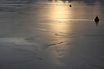 A frozen river at midday in Umeà, Sweden. Dec. 27, 2007.