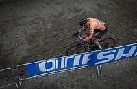 Mathieu Van Der Poel (NED/Corendon Circus) chasing.<br /> <br /> Men Elite Race<br /> UCI CX Worlds 2018<br /> Valkenburg - The Netherlands