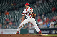 Louisiana Ragin' Cajuns relief pitcher Logan Stoelke (32) in action against the Vanderbilt Commodores in game five of the 2018 Shriners Hospitals for Children College Classic at Minute Maid Park on March 3, 2018 in Houston, Texas.  The Rajin' Cajuns defeated the Commodores 3-0.  (Brian Westerholt/Four Seam Images)