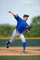 Toronto Blue Jays Conor Fisk (77) during a minor league Spring Training game against the Pittsburgh Pirates on March 24, 2016 at Pirate City in Bradenton, Florida.  (Mike Janes/Four Seam Images)
