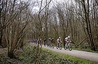 Michael Schär (SUI/AG2R Citroën) crossing the Plugstreets gravel roads<br /> <br /> 83rd Gent-Wevelgem - in Flanders Fields (ME - 1.UWT)<br /> 1 day race from Ieper to Wevelgem (BEL): 254km<br /> <br /> ©kramon