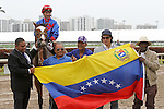 March 29, 2014: #5 Hey Leroy with jockey Alex Solis on board wins the Appleton Stakes G3 by a nose over #4 Mr. Online with jockey Kendrick Carmouche up at Gulfstream Park in Hallandale Beach, FL. Liz Lamont/ESW/CSM