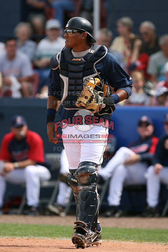 March 20th 2008:  Yamid Haad of the Cleveland Indians during a Spring Training game at Chain of Lakes Park in Winter Haven, FL.  Photo by:  Mike Janes/Four Seam Images