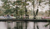 speeding along the lake<br /> <br /> Elite Men's race<br /> Superprestige Gavere / Belgium 2017