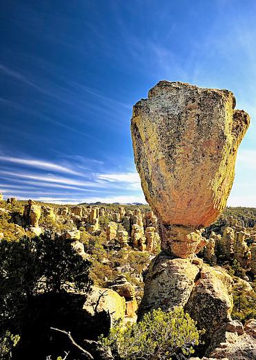 Balanced Rock formation in Chiricahua National Monument, Arizona