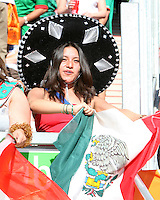 Mexican Fan. Mexico defeated Iran 3-1 during a World Cup Group D match at Franken-Stadion, Nuremberg, Germany on Sunday June 11, 2006.