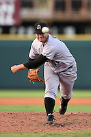 Jupiter Hammerheads pitcher Charlie Lowell (26) delivers a pitch during a game against the Bradenton Marauders on June 25, 2014 at McKechnie Field in Bradenton, Florida.  Bradenton defeated Jupiter 11-0.  (Mike Janes/Four Seam Images)
