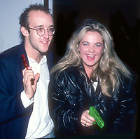 Keith Haring and Cornelia Guest 1985<br /> Photo By Adam Scull/PHOTOlink.net