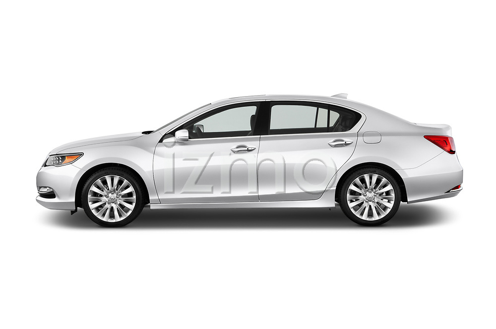 Car driver side profile view of a 2014-2016 Acura RLX Base 4 Door Sedan