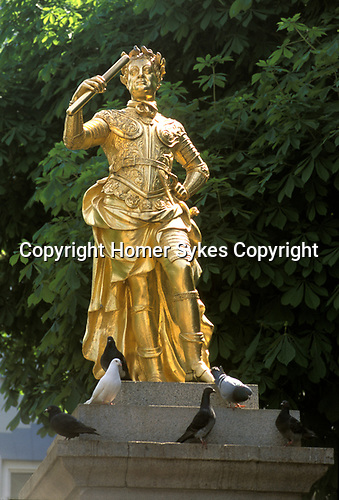 Statue of George 2nd Royal Square St Helier Jersey The Channel Islands UK. Dressed as Julius Caesar. 2000s