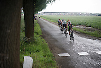 CX World Champion Wout Van Aert (BEL/Crelan-Vastgoedservice) & 2 others stay ahead of the peloton until 15km before the finish<br /> <br /> stage 3: Buchten - Buchten (NLD/210km)<br /> 30th Ster ZLM Toer 2016