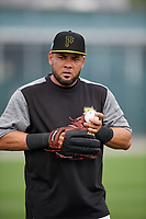 Pittsburgh Pirates Melky Cabrera (53) during the teams first Spring Training practice on February 18, 2019 at Pirate City in Bradenton, Florida.  (Mike Janes/Four Seam Images)