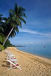 Thailand, island Ko Samui, Maenam Beach - quiet beach in the north