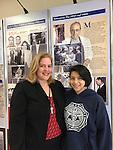 Janett Ordonez with her Spanish teacher, Laurie Leon, at DeBakey HS.