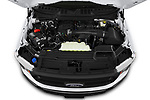 Car Stock 2021 Ford F-150 XL 4 Door Pick-up Engine  high angle detail view