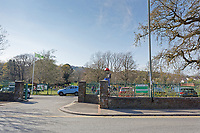 Pictured: Ystrad Mynach Park in south Wales, UK. Saturday 13 April 2019<br /> Re: A 13-year-old boy, named lofcally as Carson Price, has died after being found unconscious in Ystrad Mynach Park, Caerphilly County, at about 7.20pm on Friday 12 April.<br /> The teen was taken to University Hospital of Wales in Cardiff where he was pronounced dead.