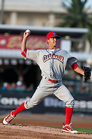Pitcher Garett Claypool #28 of the Clearwater Threshers during the game against the Daytona Cubs at Jackie Robinson Ballpark on May 1, 2012 in Daytona Beach, Florida. (Scott Jontes/Four Seam Images)