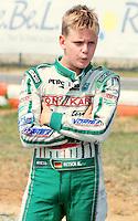 Ortona (CH) 21/07/2013: L'ex pilota e campione di Formula 1 Michael Schumacher presente nei box di Kart del campionato europeo Cik-Fia in cui corre suo figlio Mick Schumacher. Foto Adamo Di Loreto/buenaVista*photo