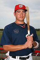 October 5, 2009:  Designated Hitter J.P. Ramirez of the Washington Nationals organization during an Instructional League game at Space Coast Stadium in Viera, FL.  Ramirez was selected in the 15th round of the 2008 MLB Draft.  Photo by:  Mike Janes/Four Seam Images