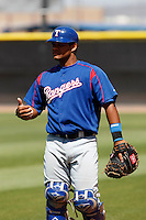 Thomas Telis -Texas Rangers - 2009 spring training.Photo by:  Bill Mitchell/Four Seam Images