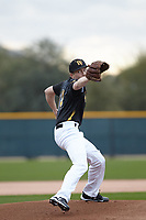 Clayton Westrope (14) of Livermore High School in Livermore, California during the Under Armour All-American Pre-Season Tournament presented by Baseball Factory on January 14, 2017 at Sloan Park in Mesa, Arizona.  (Kevin C. Cox/MJP/Four Seam Images)