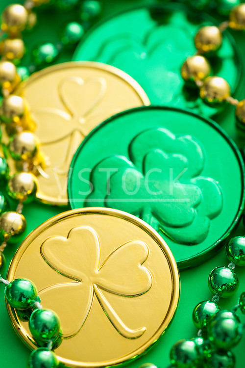 Lucky coins and beads