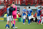 Hamilton Accies v St Johnstone…01.09.18…   New Douglas Park     SPFL<br />David McMillan applauds the fans at full time<br />Picture by Graeme Hart. <br />Copyright Perthshire Picture Agency<br />Tel: 01738 623350  Mobile: 07990 594431