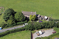 Pictured: Aerial view of the house where 66 Angelika Dries-Jenkins was found murdered in Narberth, Pembrokeshire, west Wales. Monday 06 June 2011<br />