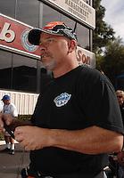 Nov 4, 2007; Pomona, CA, USA; NHRA top fuel dragster driver Cory McClenathan during the Auto Club Finals at Auto Club Raceway at Pomona. Mandatory Credit: Mark J. Rebilas-US PRESSWIRE