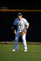 Lakeland Flying Tigers right fielder Mike Gerber (13) during a game against the Tampa Yankees on April 7, 2016 at Henley Field in Lakeland, Florida.  Tampa defeated Lakeland 9-2.  (Mike Janes/Four Seam Images)
