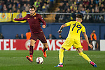 Kevin Strootman of AS Roma fights for the ball with Samuel Castillejo Azuaga of Villarreal CF during the match Villarreal CF vs AS Roma, part of the UEFA Europa League 2016-17 Round of 32 at the Estadio de la Cerámica on 16 February 2017 in Villarreal, Spain. Photo by Maria Jose Segovia Carmona / Power Sport Images