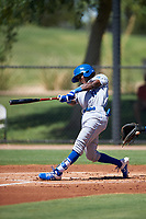 AZL Royals Tyler Tolbert (14) at bat during an Arizona League game against the AZL Dodgers Lasorda on July 4, 2019 at Camelback Ranch in Glendale, Arizona. The AZL Royals defeated the AZL Dodgers Lasorda 4-1. (Zachary Lucy/Four Seam Images)