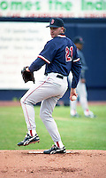 Boston Red Sox pitcher Roger Clemens (21) during spring training circa 1993 at Chain of Lakes Park in Winter Haven, Florida.  (MJA/Four Seam Images)