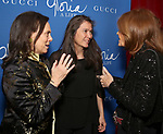 """Emily Mann, Diane Paulus and Gloria Steinem attend the Opening Night Performance After Party for """"Gloria: A Life"""" on October 18, 2018 at the Gramercy Park Hotel in New York City."""