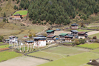 Phobjikha, Bhutan.  Nyelung Drachagling Temple, Established 14th. century.