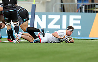Saturday 14th September 2019 | Glasgow vs Ulster  <br /> <br /> Rob Herring scores the first Ulster try during the second pre-season friendly between Ulster and Glasgow at Scotstoun Stadium, Glasgow, Scotland. Photo by John Dickson / DICKSONDIGITAL