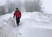 2018 03 04 Snow weather in Trefil, Wales, UK