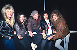 SAM KINISON with Eric Brittingham & Fred Coury of Cinderella & Marc Ferrari & Bryan Jay of Keel at The Comedy Store