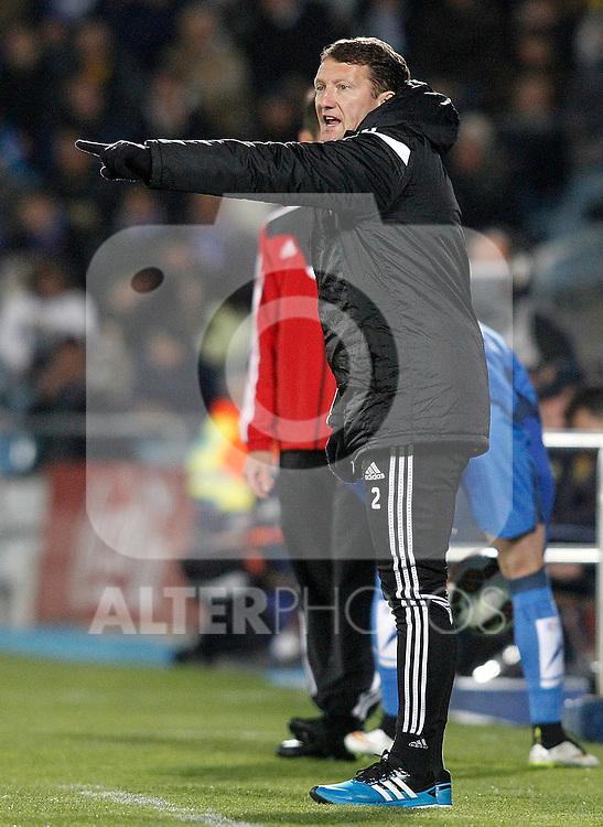 Real Sociedad's second coach Billy Mckinlay during La Liga match.March 16,2015. (ALTERPHOTOS/Acero)