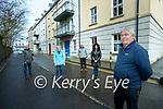 Park lane residents objecting to a homeless accommodation development beside the estate, from left: Cllr Sammy Locke, Lesley Clarke, Denis Fogerty, Caroline Burke and Billy Daly.