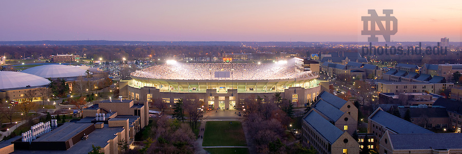 Notre Dame Stadium during a football game.